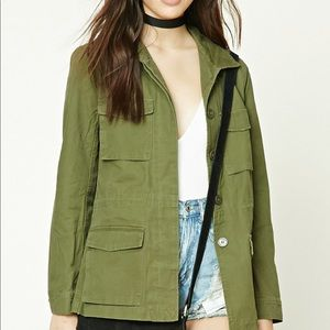 NWT forever 21 casual olive jacket